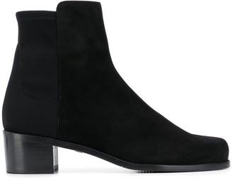 Stuart Weitzman Block Heel Suede Ankle Boots
