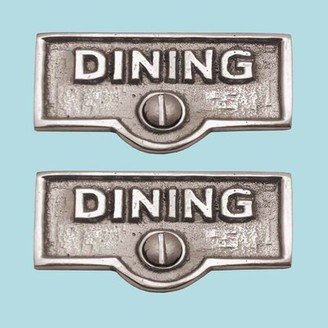 The Renovators Supply Inc. Dining Name Signs Labels Switch Plate Tag