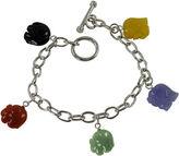 JCPenney FINE JEWELRY Multicolor Jade Elephant Bracelet