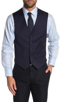 Tommy Hilfiger Navy Twill Suit Separate Vest