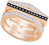 Swarovski Rose Gold-Tone Clear & Black Pave Ring