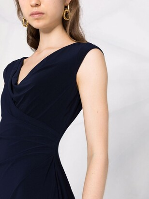 Lauren Ralph Lauren Draped-Detailing Midi Dress