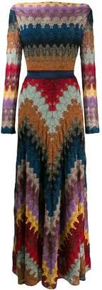 Missoni chevron-pattern maxi dress
