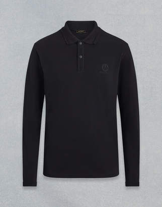 Belstaff LONG SLEEVED POLO SHIRT Black