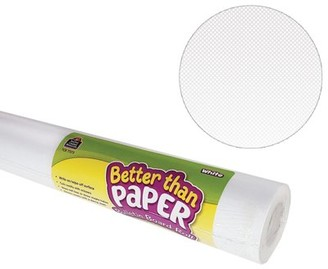 Teacher Created Resources Better Than Paper Bulletin Board Roll, 4' x 12', White, 4 Rolls