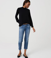 LOFT Straight Crop Jeans in Vintage Mid Indigo Wash