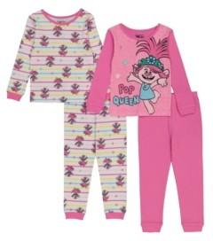 AME Trolls by DreamWorks Toddler Girl 4 Piece Pajama Set