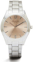 Kenneth Cole Silvertone Watch With Rose Gold Face