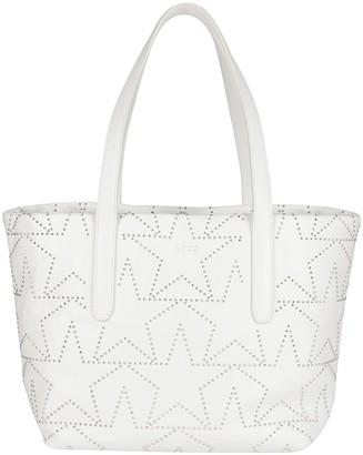 Jimmy Choo White Leather Sofia Tote Bag