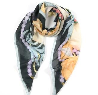 Misheo Dwarf Boa Large Cotton Silk Scarf - Square