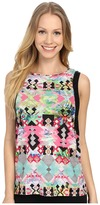 Pink Lotus Hawaii Tribe Refreshed Contrast Muscle Tank Top
