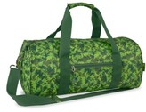 Bixbee Boy's 'Large Dino Camo' Sports Duffel Bag - Green