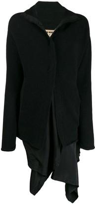 UMA WANG draped layer coat