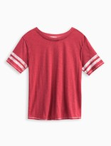 Splendid Girl Football Tee with Screened Stripe