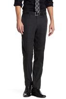 Louis Raphael Windowpane Flannel Flat Front Pant