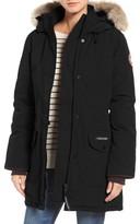 Canada Goose Women's Trillium Fusion Fit Hooded Parka With Genuine Coyote Fur Trim