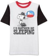 JEM Mens Sleeping Snoopy Graphic T-Shirt M