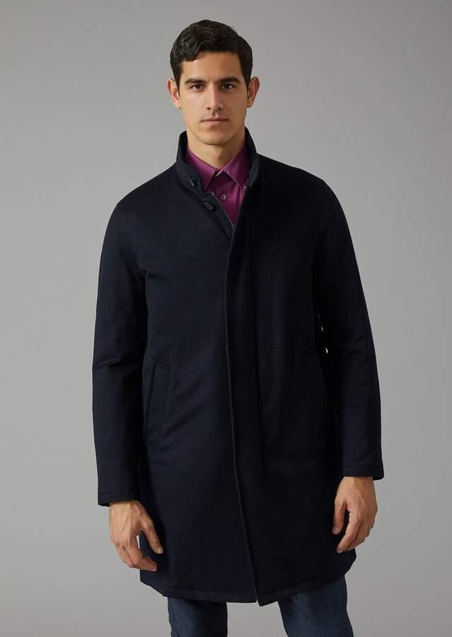 Giorgio Armani Cashmere Coat With Cashmere Padding