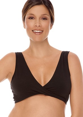 Lamaze Cotton Spandex Sleep Bra for Nursing and Maternity Large