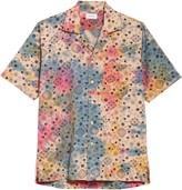 Rhude Bandana Peace Camo Short Sleeve Button-Up Camp Shirt