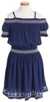 Ella Moss Girl's Zada Voile Off The Shoulder Dress