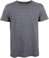 Oliver Spencer Navy Micro Striped harper T-shirt