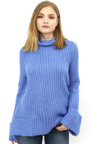 West Coast Wardrobe Alpine Chunky Sweater in Blue
