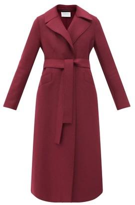 Harris Wharf London Tie-belt Single-breasted Wool Coat - Burgundy