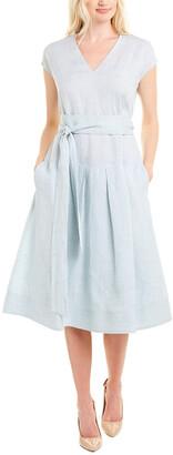 Lafayette 148 New York Remington Linen A-Line Dress