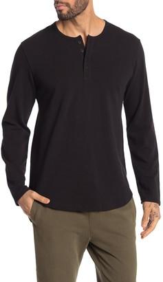 Goodlife Pique Long Sleeve Henley Shirt