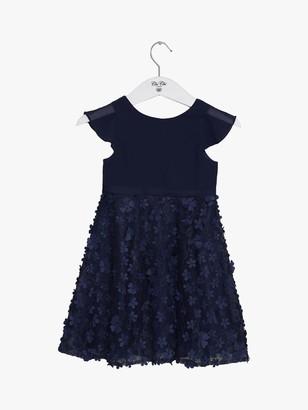 Chi Chi London Girls' Bibby Floral Chiffon Dress, Navy