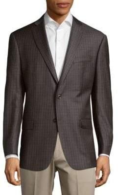 Michael Kors Plaid Wool Jacket