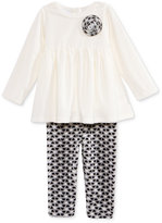 First Impressions 2-Pc. Velour Tunic & Leggings Set, Baby Girls (0-24 months), Only at Macy's