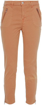 J Brand Cropped Cotton-blend Twill Skinny Pants