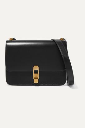 Saint Laurent Carre Leather Shoulder Bag - Black