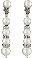 Oscar de la Renta Pearl Pave Backdrop P Earrings