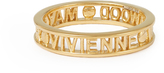 Vivienne Westwood Sterling Silver Westminster Ring Gold Gold size M