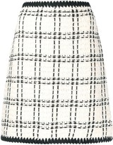 Tory Burch boucle checked pattern skirt