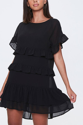 Forever 21 Tiered Ruffle Mini Dress