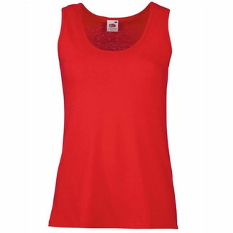 Fruit of the Loom Ladies/Womens Lady-Fit Valueweight Vest (2XL) (Red)