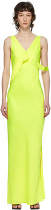 Helmut Lang Yellow Double Satin Sash Dress