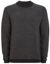 Selected Navy High Neck Sweater
