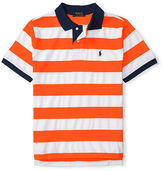 Ralph Lauren Striped Cotton Mesh Polo