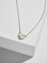 BaubleBar Adina Reyter Super Tiny Pavé Diamond Folded Heart Necklace