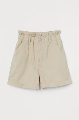 H&M Cotton paper bag shorts