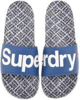 Superdry Logo Beach Sliders Blue