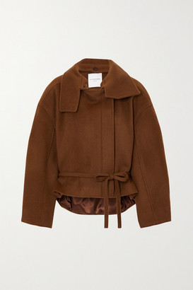 LE 17 SEPTEMBRE Belted Wool Coat - Brown