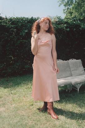 Fame & Partners Jules Satin Cowl Neck Slip Dress