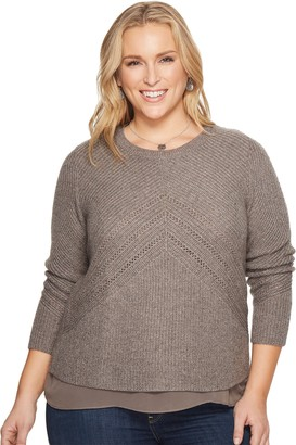 Lucky Brand Women's Plus Size Niko Pullover Sweater
