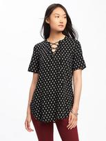 Old Navy Lightweight Lace-Up Top for Women